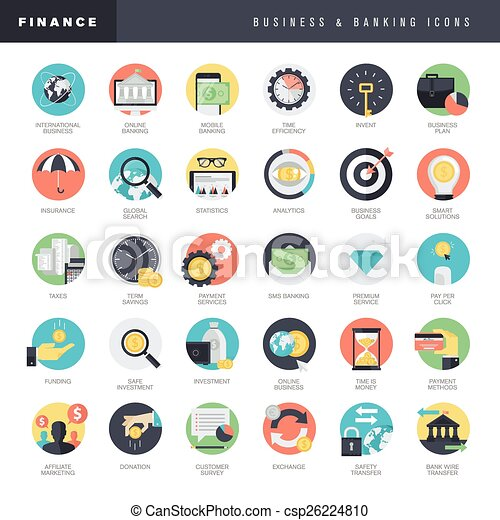 Business and banking icons    - csp26224810