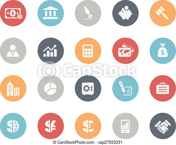 Business and Finance Icons Classics - csp27833331