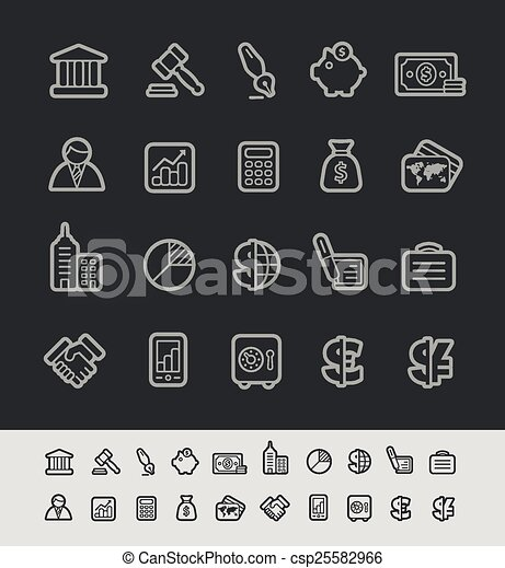 Business and Finance Icons - csp25582966