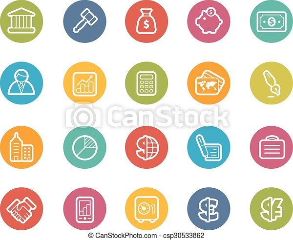 Business and Finance Icons - csp30533862