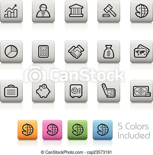 Business and Finance Icons - csp23573191
