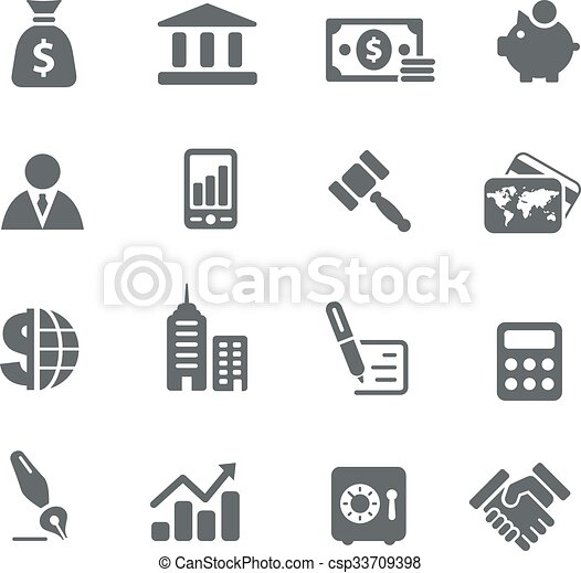 Business and Finance Icons - csp33709398