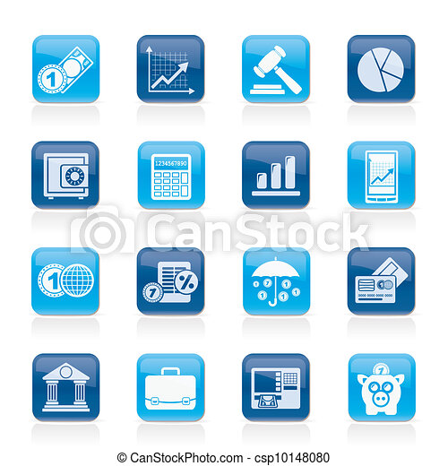 Business and finance icons - csp10148080
