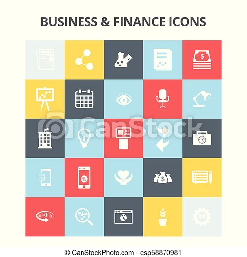 Business and Finance Icons - csp58870981