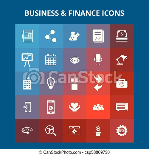 Business and Finance Icons - csp58869730