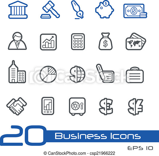 Business and Finance Icons // Line  - csp21966222
