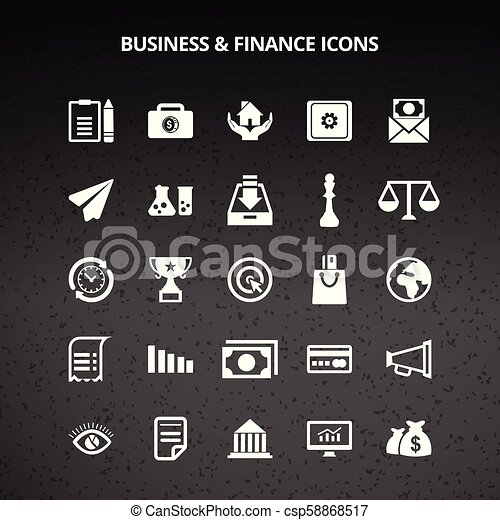 Business and Finance Icons - csp58868517