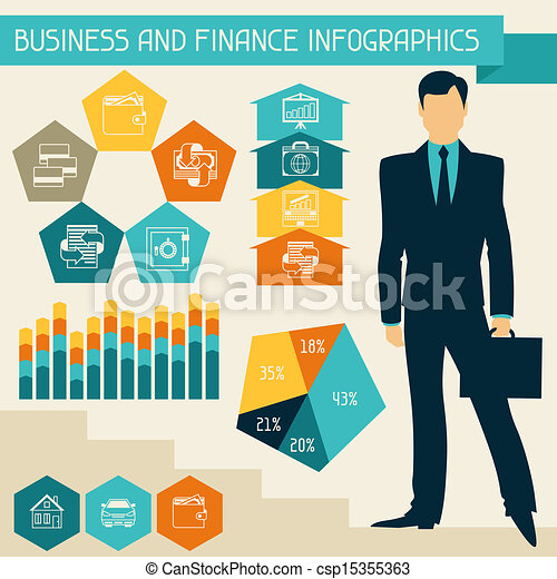 Business and finance infographics. - csp15355363