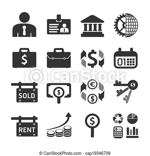 Business and financial Icons set. Vector illustration. - csp19346709