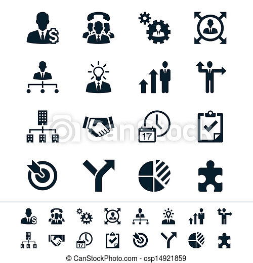 Business and management icons - csp14921859