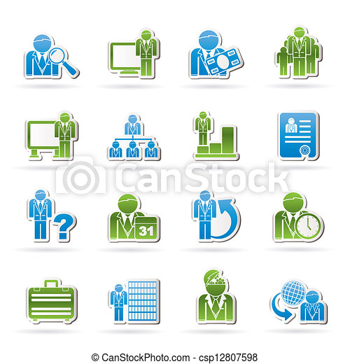 Business and management icons - csp12807598