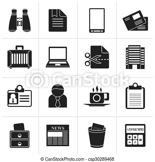 Business and office elements icons - csp30289468