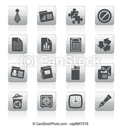 Business and Office Icons - csp8647019