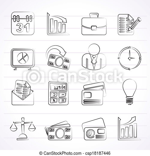 Business and office icons - csp18187446