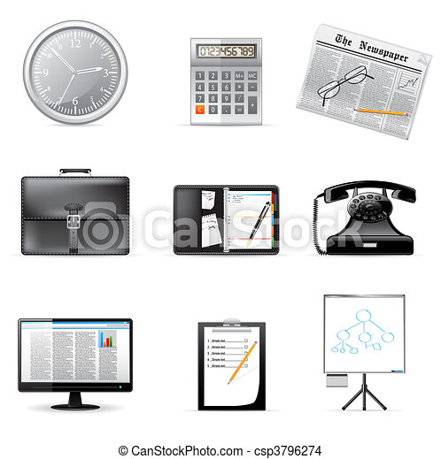 Business and office icons  - csp3796274