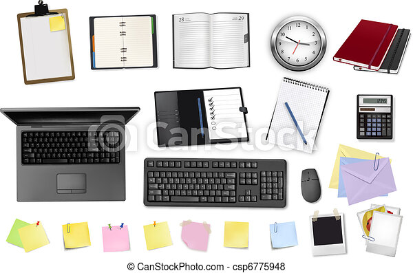 Business and office supplies.  - csp6775948