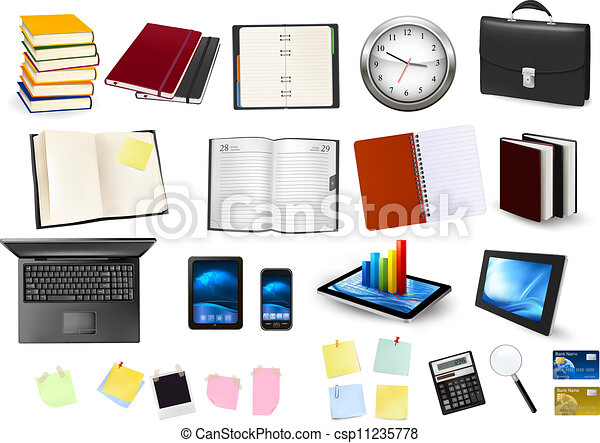Business and office supplies. Vector. - csp11235778