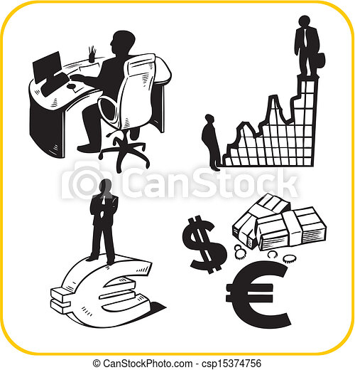 Business and office. Vector set. - csp15374756