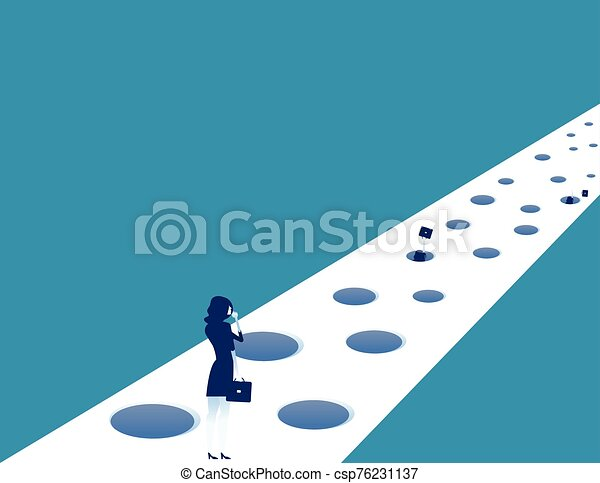 Business and trap on the road to success. Concept business vector illustration. - csp76231137