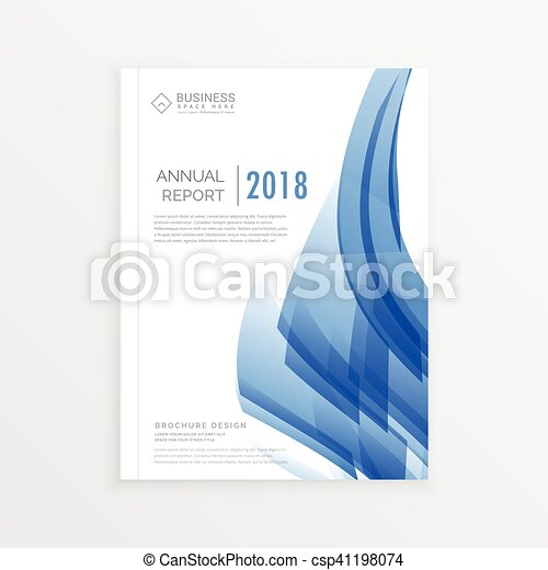 Business annual report cover page template in a4 print size with business annual report cover page template in a4 print size with abstract blue shapes csp41198074 friedricerecipe Choice Image