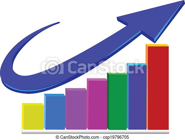 Business Arrow Diagram Graph Vector