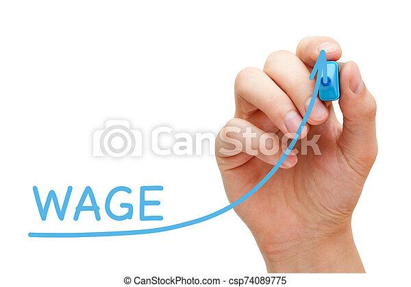 business, augmentation, salaire, graphique, concept - csp74089775