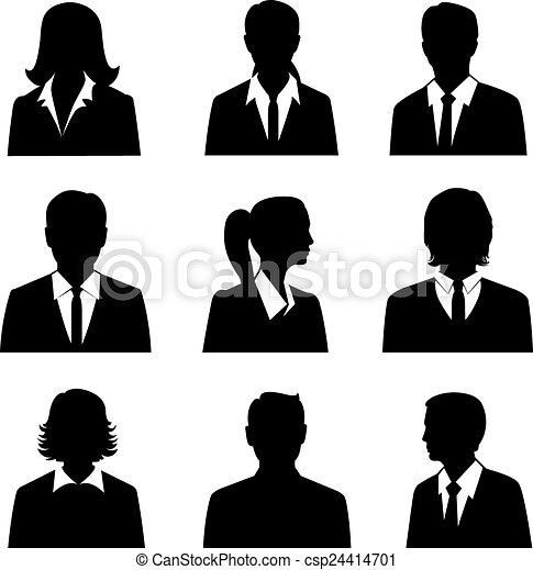 Business Avatars Set - csp24414701