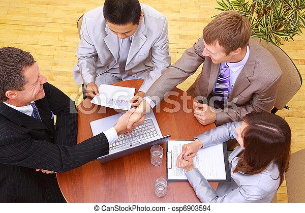 business, avoir, portrait, businesspeople, réunion - csp6903594