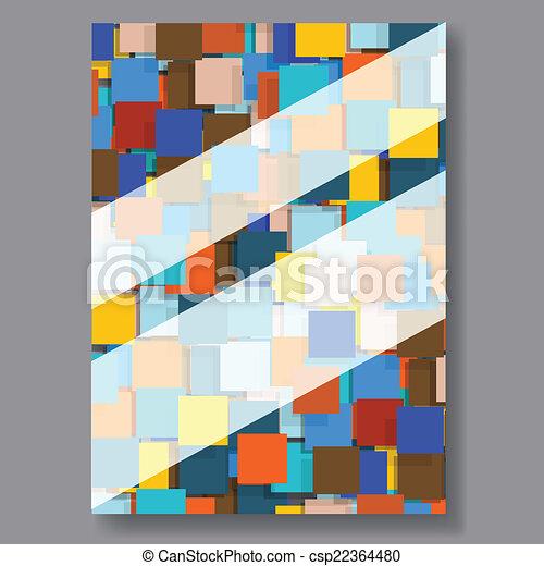 Business background flyer. Vector. - csp22364480