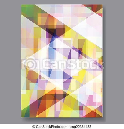 Business background flyer. Vector. - csp22364483