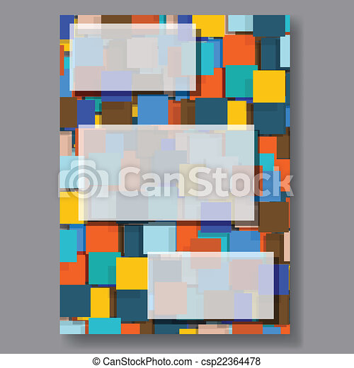 Business background flyer. Vector. - csp22364478