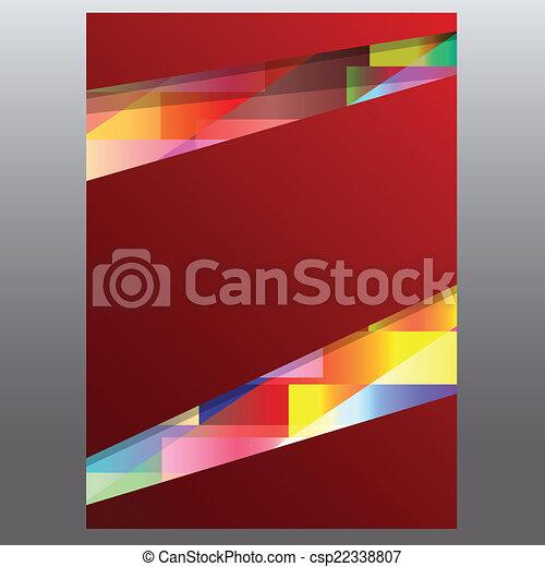 Business background flyer. Vector. - csp22338807