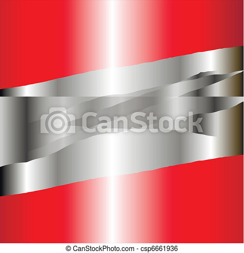 Business background silver and red - csp6661936