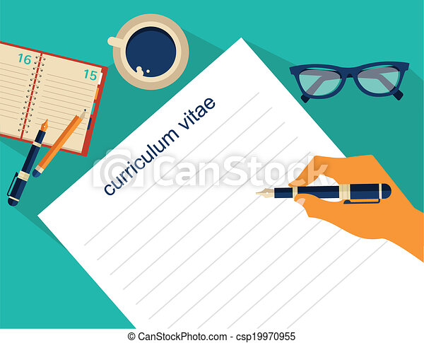 Business background with resume, vector. Business background ...