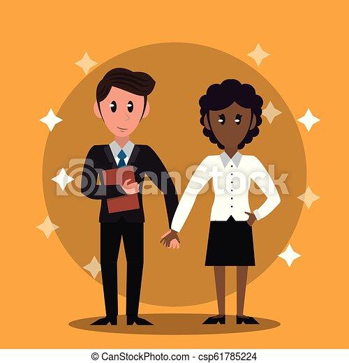 Business bankers teamwork - csp61785224