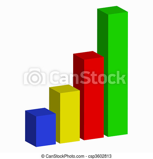 business bar graph illustration isolated on a white vectors rh canstockphoto com