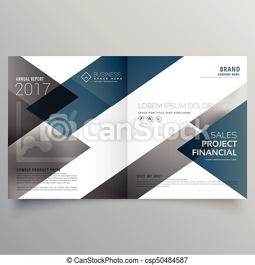 Business Bifold Brochure Flyer Leaflet Magazine Cover Page Design Layout Template