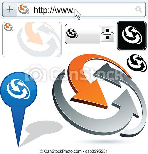 Business binding abstract logo design. - csp8395251