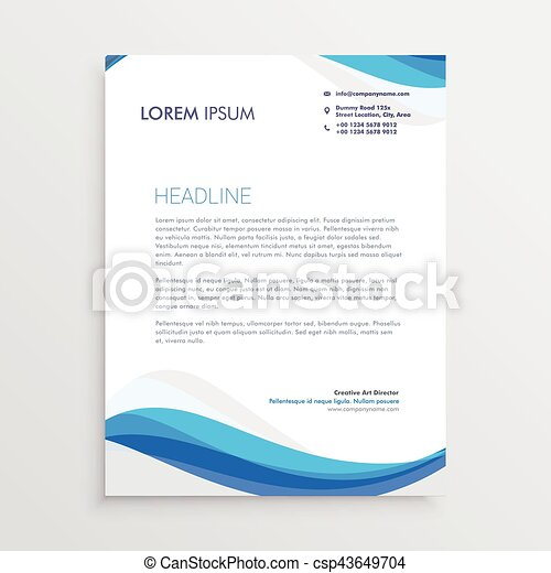 Business blue wave style letterhead template vector clipart search business blue wave style letterhead template csp43649704 spiritdancerdesigns Image collections
