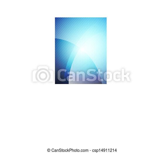 Business blue wave template - csp14911214