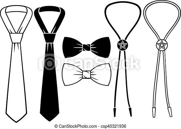 business, bow and cowboy bolo ties - csp40321936
