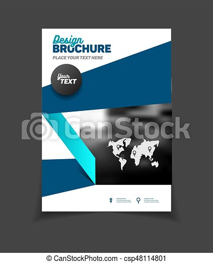 Business Brochure Design Annual Report Vector Illustration