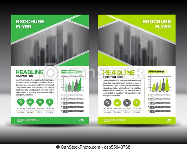 Business brochure flyer template vector illustration green cover business brochure flyer template vector illustration green cover design annual report cover magazine spiritdancerdesigns Image collections