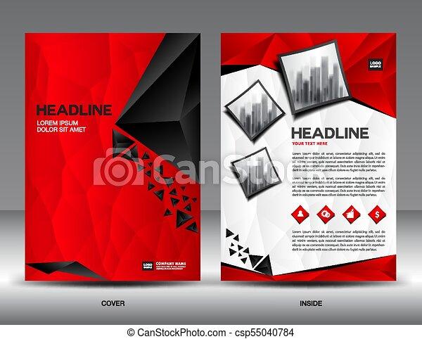 Business Brochure Flyer Template Vector Illustrationred Vector