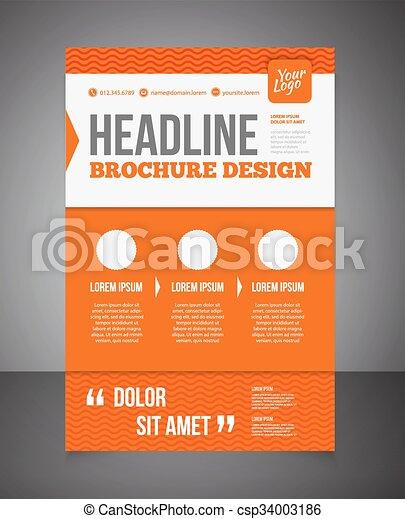 business brochure or offer flyer design template brochure design
