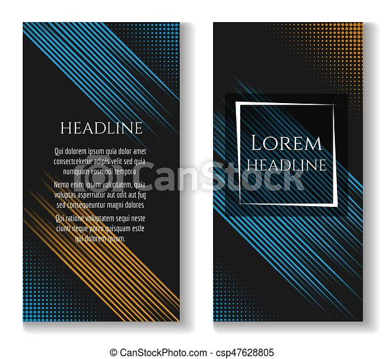 Business brochure template with motion lines - csp47628805