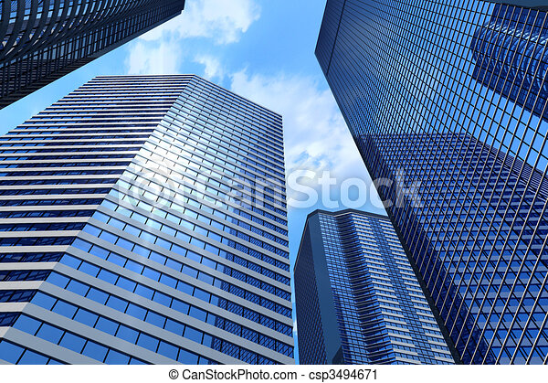 Business buildings - csp3494671