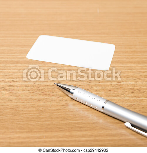 business card and pen - csp29442902