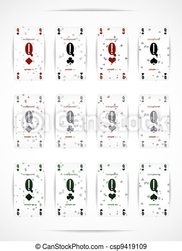 Business card as a playing card - csp9419109