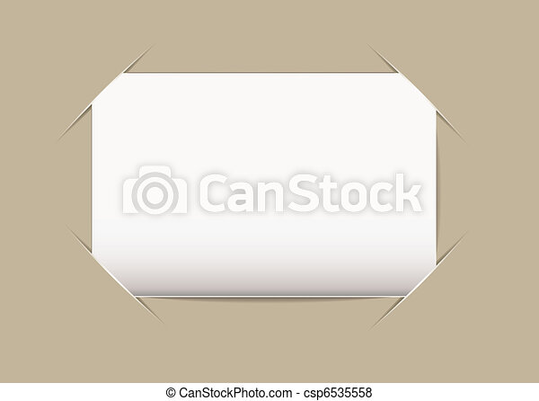 Business card blank plain blank business card stuck on vector business card blank csp6535558 reheart Images